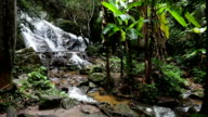 Slow motion, Mae kampong waterfalls in Chiang Mai, Thailand