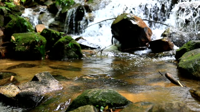 Slow motion, Mae kampong waterfalls in Chiang Mai, Thailand