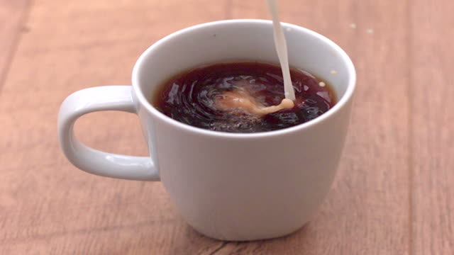 Slow Motion Milk into Mug