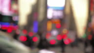 Slow Motion of Blurred Shot of People Walking in Times Square