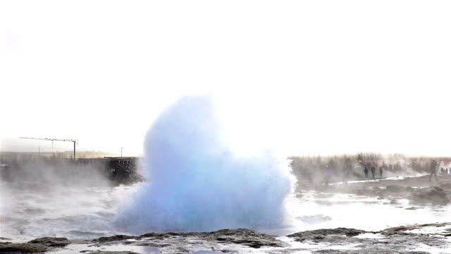 Slow motion of Eruption of Strokkur Geyser in Iceland