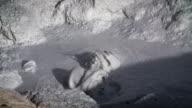 Zeitlupe von Schlamm-Vulkan