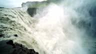 Slow motion of Powerful waterfall Dettifoss