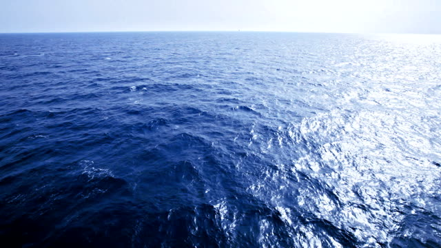 HD Slow motion of sea waves from sailing ship bow