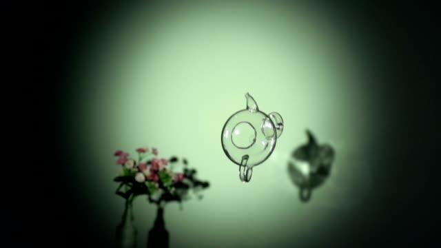Slow Motion of Tossing Tea Pot