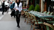 Slow motion Parisian Woman