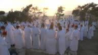 Slow Motion, Samaritan pilgrimage ceremony at Mount Gerizim near West Bank city of Nablus,Samaria
