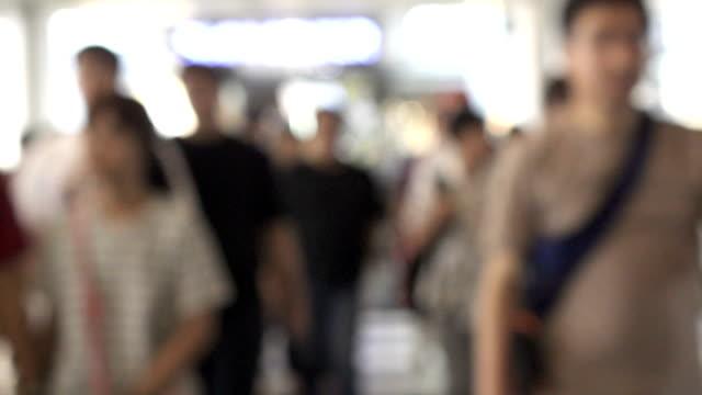 Zeitlupe shopping verschwommene Masse
