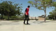 Zeitlupe skateboarder