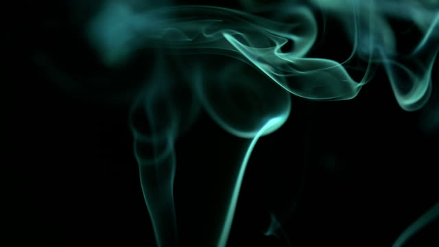 Slow Motion: Smoke green color