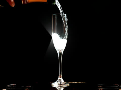 Slow Motion Sparkling Champagne Toast