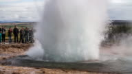 Slow Motion Strokkur Geyser eruption - Iceland