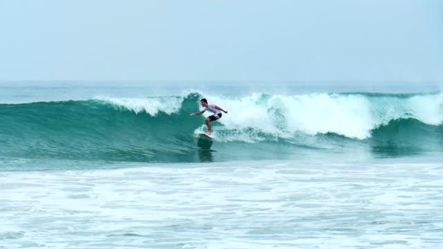 Slow motion surfer