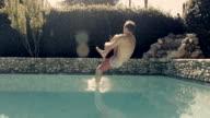 Slow Motion Swimming Pool Jump