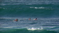 Slow Motion Waves & Surfers