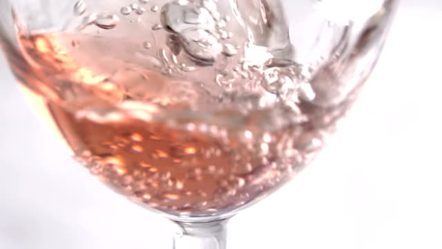 Slow Motion Wine Poured Into A Glass