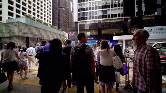 Slow motion,Tracking shot :Hongkong Crossroad