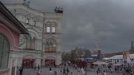 Slow pan over Red square Moscow