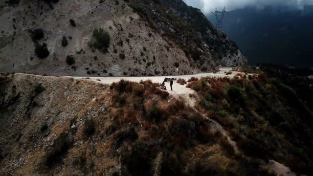 Slow Rotate Around Arm of Mountain in California