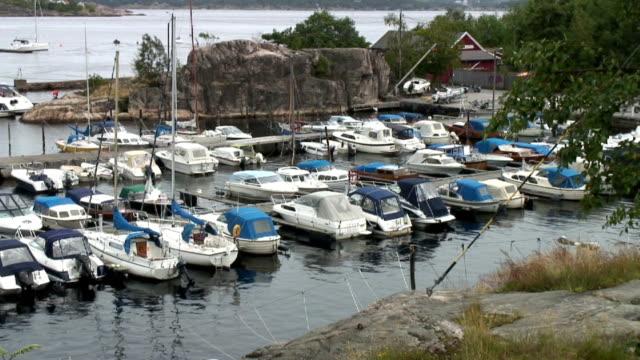 Small boats in the marina.