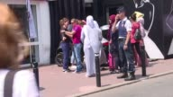 A small group of women who were headed to the beach in Cannes on Friday for a Toutes en burkini all women in burkinis protest were immediately...