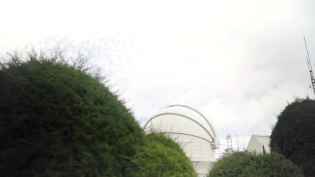 small observatory at cloudy
