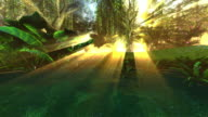 Piccolo stagno in Foresta di favola