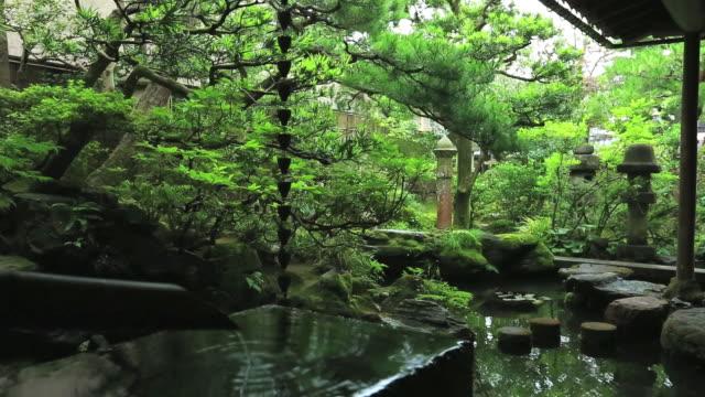 MS Small pond of Wooden old house for samurai / Kanazawa, Ishikawa, Japan