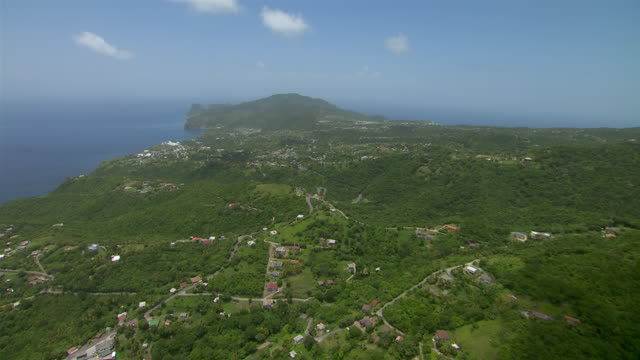 Small villages on the Caribbean island of Montserrat.