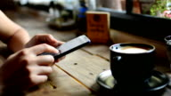 Smart phone and coffee