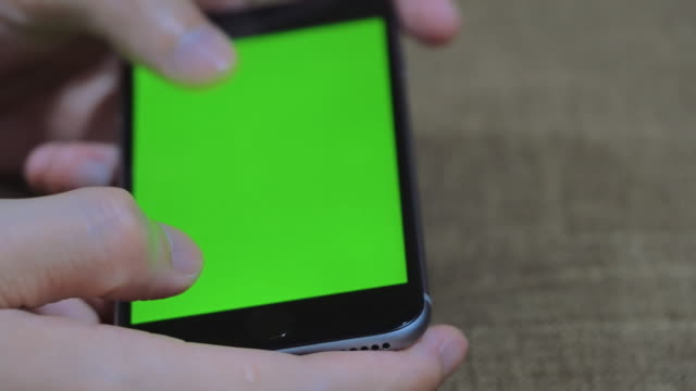 Smart phone green screen