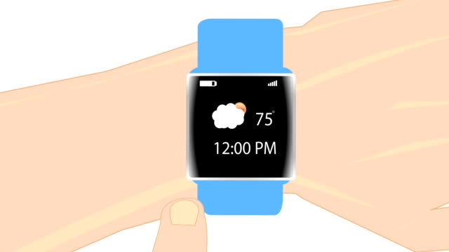 Smart Watch on Arm animation