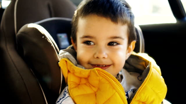 Smiled toddler boy