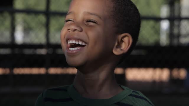 Smiling African American boy