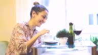 Smiling girl drinking cofee