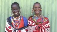 Smiling Maasai tribal women. Kenya, Africa.