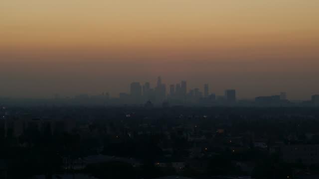 Smoggy dawn LA HD timelapse