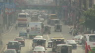 Smoggy traffic in Manila Philippines