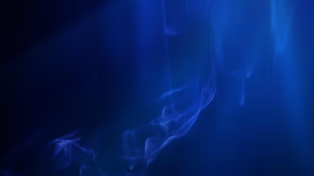 Smoke and blue light