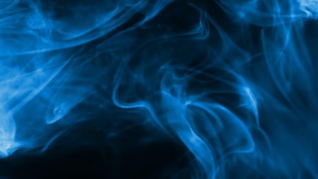 Smoke blue light