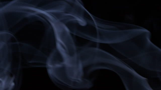 4K: Smoke on black background