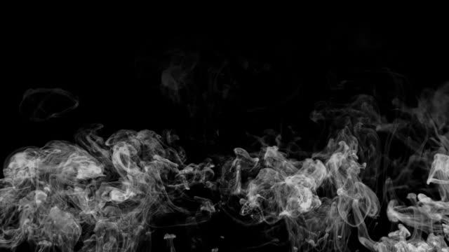 HD smoke rising over black