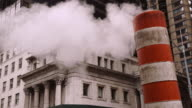 Smoke Stack in Front of the Supreme Court Appellate in Manhattan