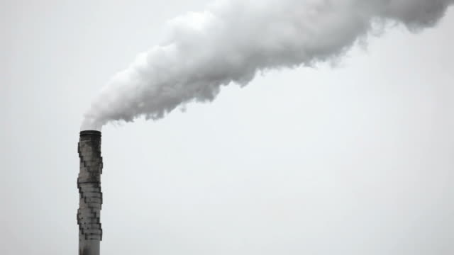 LS, Smoke stack spewing out air pollution