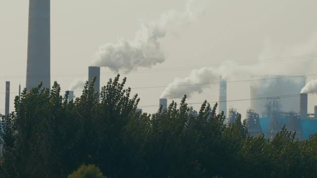 Smokestacks with pollution