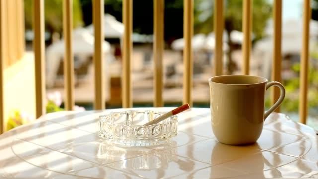 Smoking at the balcony