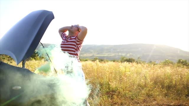 Smoking car engine causes panic and confusion