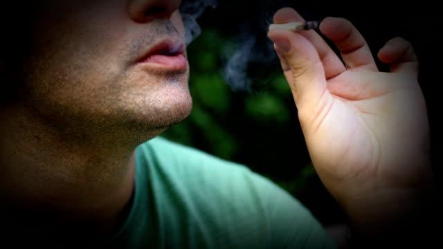 Smoking pot.
