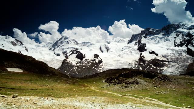 Smooth Panning view of Matterhorn Glacier