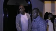 B Smoove singer Joe talk about first week of NFL football outside Craig's Restaurant in West Hollywood in Celebrity Sightings in Los Angeles
